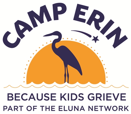 Camp Erin, Because Kids Grieve, Part of the Eluna Network Logo