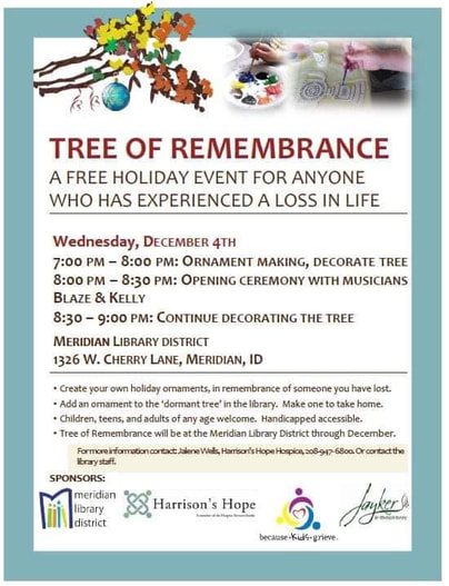 Tree of Remembrance event poster