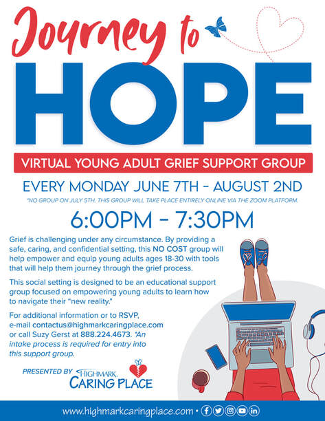 Journey to Hope: Virtual Young Adult Grief Support Group (NO COST)